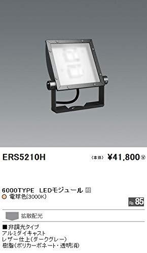 ENDO LEDアウトドアスポットライト(看板灯) CDM-TP150W相当 電球色3000K 防湿防雨形 拡散配光 ダークグレー ERS5210H (ランプ付電源別売)   B07HQ7456N