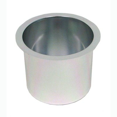 Jumbo Aluminum Poker Table Cup Hold'em (Set of 10) Color: Silver by Trademark Global