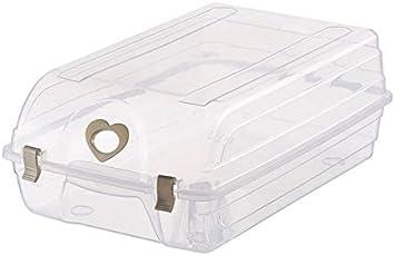 YAzNdom Caja de Zapatos Caja de Almacenamiento de plástico Botas ...