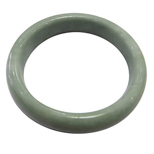 - Zimlove Elegant Natural Green Color Hand Jade Chain Bracelets, Jadeite Gemstone Jade Ring, Women's Fashion Classcial Jade Bangle Bracelet Handcrafted Girls' Jewelry with Gift Box (59mm-61mm Diameter)
