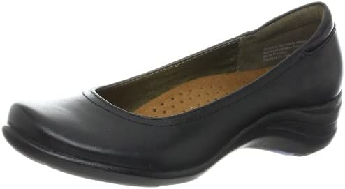 Women's Hush Puppies Leather Black Pumps Alter Pump Showy