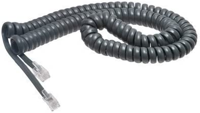 Nortel Norstar 12/' FT Phone Handset Cord T7100 T7208 T7316 T7316E Charcoal Gray