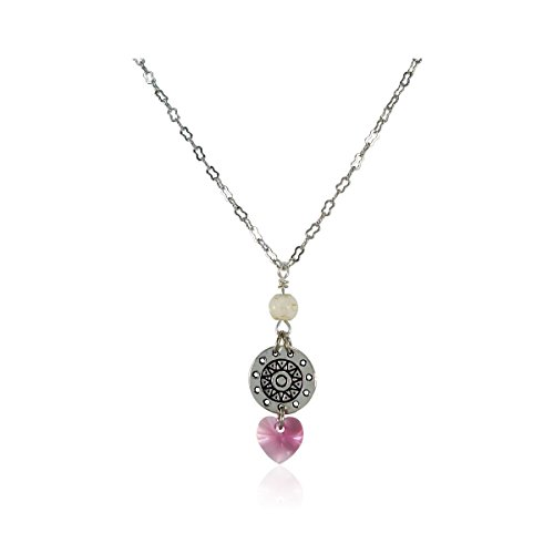 New Design Swarovski Elements Crystal Heart Pendant With White Stone, 16 Inches Nickel Free Jewelry (4 People Costume Ideas)