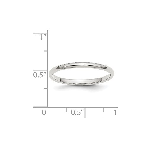 (Sterling Silver Engravable 2mm Half-Round)