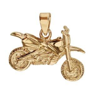 Pendentif moto en or