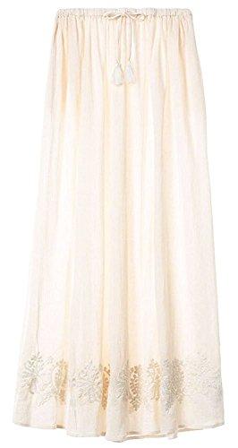 Victoria's Secret Swim Cover up Maxi skirt Linen Ivory beach Dress Embroidered (Victorias Secret Maxi Dress)