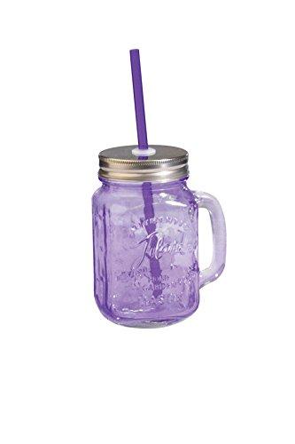 Toland Home Garden Mason Jar Mug, 1 pint, Purple