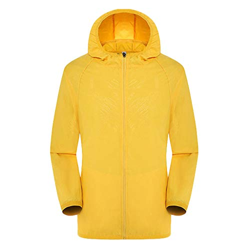 (Lightweight Windbreaker,ONLY TOP Men's Cycling Jersey Bicycle Ultra Light Windbreaker UPF50+ Jacket Hiking-9 Color Yellow)