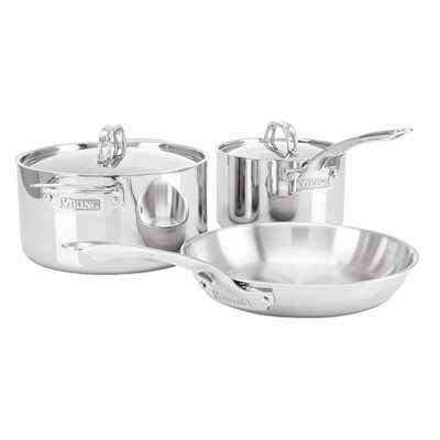 Viking 3-Ply Stainless Steel Cookware Set, 5 Piece by Viking Culinary