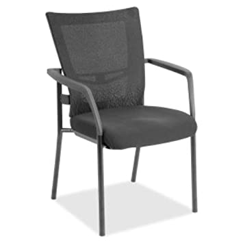 Lorell Mesh Back Guest Chair, Gray