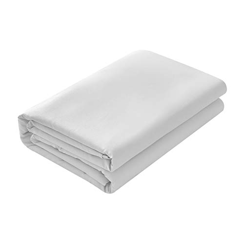 (Basic Choice Flat Sheet, Breathable, Extra Soft Microfiber 2000 Bedding Top Sheet - Wrinkle, Fade, Stain Resistant - Hypoallergenic - (Silver,)
