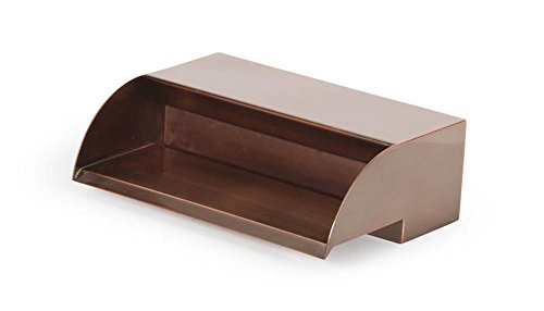 (Atlantic Water Gardens CS12 Waterfall Spillway, 12-inch, Copper Finish)