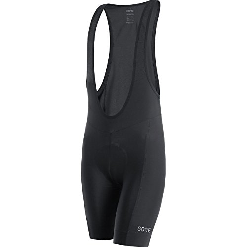(GORE WEAR C3 Men's Bib Shorts with Seat Insert, Size: M, Color: Black)