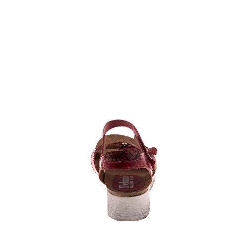 B058 Cuir Tomber Felmini Multicolore Sandales Dorini Véritable en Multicolore Compensées avec Femme Amour Chaussures WggHv0