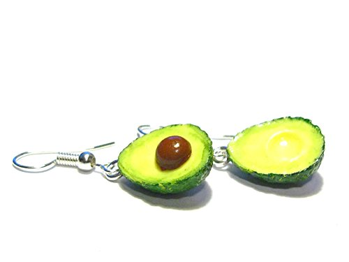 Alligator Avocado Earrings - Tiny Food Jewelry