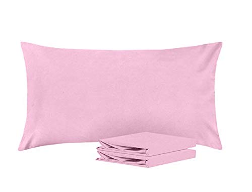 Fab Linens King Pillowcases, Set of 2, 100% Brushed Microfiber - Solid Lavender - Soft and Cozy, Wrinkle, Fade, Stain Resistant, with Envelope Closure