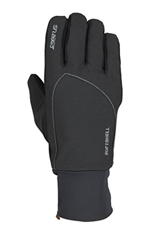 Seirus Innovation 1414 Mens Softshell Lite Polartec Waterproof Glove with Microfleece Lining, Black, Large (Polartec Fleece Mitts)