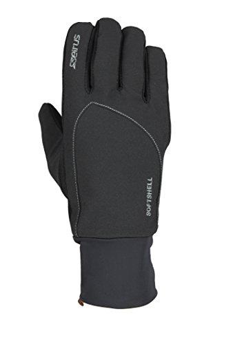 Seirus Innovation 1414 Mens Softshell Lite Polartec Waterproof Glove with Microfleece Lining, Black, Small/Medium