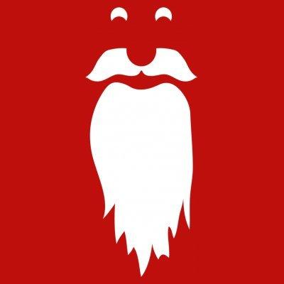 Sudadera con capucha de mujer Santa Face by Shirtcity Rojo