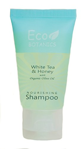 Price comparison product image Eco Botanics Shampoo,  1 oz. Tube with Flip Cap With Organic Olive Oil (Case of 300)- Air BnB,  VRBO,  Vacation Rental