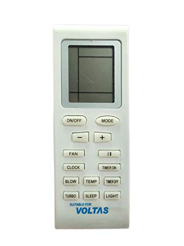 SMIPLEBOL  VOLTAS Compatible/Suitable Split AC Remote Controller  Universal Side Glass [Cream White]