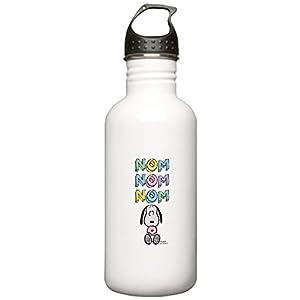 CafePress - Snoopy - Nomnomnom Water Bottle - Stainless Steel Water Bottle, 1.0L Sports Bottle
