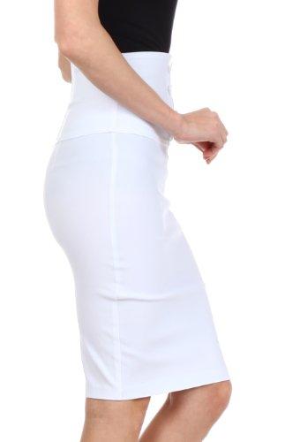 Petite A Vita Penna Come Rock Dettagli Bianco Nero Piombo Con Alta Quattro Sakkas O Bottoni Stretch marrone pxxrgw