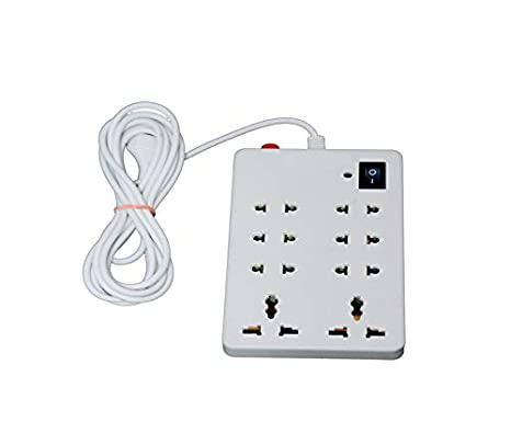 NXTPOWER 8 Socket Spike Busters Surge Protector  White,  Pack of 1