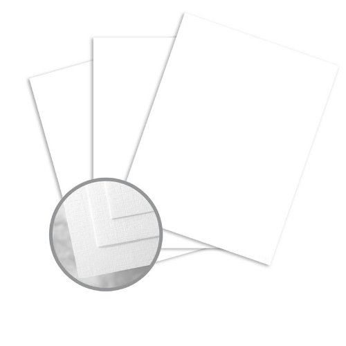 Via Linen Pure White Paper - 8 1/2 x 11 in 24 lb Writing Linen Watermarked 500 per Ream Pure White 24 Lb Writing