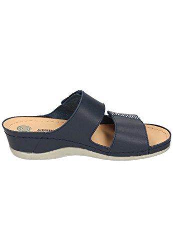 Dr. Brinkmann Femmes Chaussures De Footbed Bleues Bleu