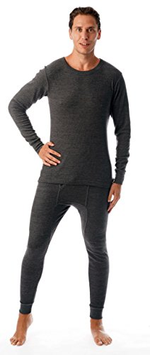 #followme Ultra Soft Thermal Underwear Set for Men 95963-Charcoal-L ()