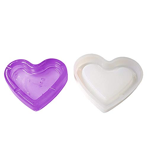 Love Heart Shape Ashtray Polymer Clay Silicone Mold,Crafting,Resin Epoxy Making DIY Decoration Tools,Semi-Transparent S088