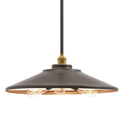 Kichler Covington 17.99-in Olde Bronze Barn Single Cone Pendant - Light Covington Outdoor Pendant