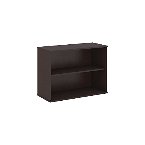 Bush Business Furniture 30H 2 Shelf Bookcase in Mocha Cherry