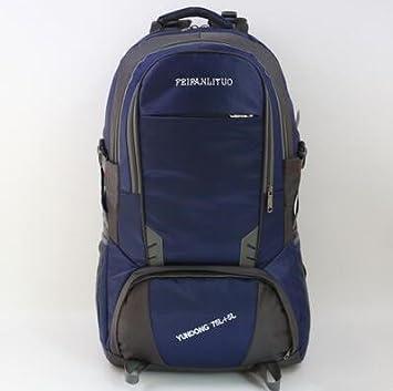 80 litros bolsa de hombro hombres gran capacidad impermeable mochila grande viaje paquete bolsa de viaje hembra al aire libre ocio mochilas: Amazon.es: ...