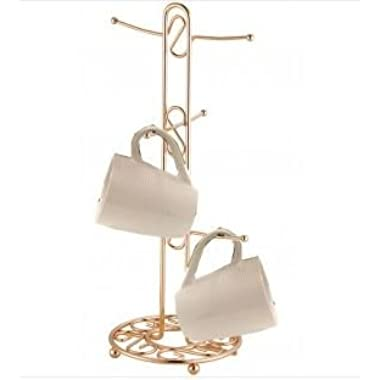 Home Basics MT01953 Mug Tree, Rose/Gold