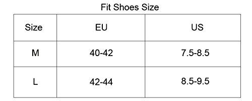 oeste ciclismo ciclismo reflectantes Impermeables y cortavientos Nieve Antideslizante Zapato cubre Cubrezapatillas o Gray-L