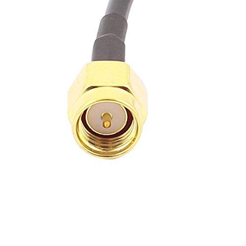 SMA-J Macho a RP-SMA-J Mujer RG174 Cable coaxial Flexible de conexión 15 cm: Amazon.com: Industrial & Scientific