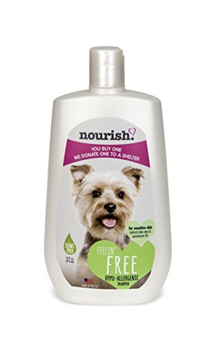 Nourish Scent-Free Hypoallergenic Dog Shampoo, Natural Aloe Vera + B5, 16 oz (Oster Hypoallergenic Shampoo)