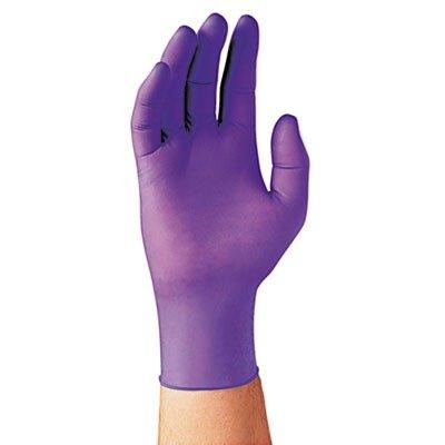 Beaded Cuff Purple - Kimberly-Clark KC500 Purple Nitrile Powder-Free Exam Gloves - X-Large Size - Latex-Free, Powder-Free, Textured Fingertip, Beaded Cuff, Ambidextrous, Non-sterile - Nitrile - 100 / Box - Purple