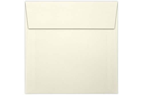 - 5 1/2 x 5 1/2 Square Envelopes w/Peel & Press - Natural Linen (50 Qty.) | Perfect for Thank You Notes, RSVPs, Greeting Cards, Weddings or Any Announcement | 80lb Text Paper | 8515-NLI-50