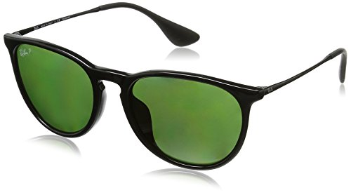 Ray-Ban Men's Full Fit Round Sunglasses, Black/Polar Green, One - Ray Glasses P Ban