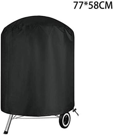 Orel_carparts Housse de protection pour barbecue cylindrique ronde, étanche, coupe-vent, 58 x 77 cm, tissu Oxford 210D
