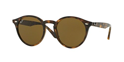 Ray-Ban Women's Highstreet Round Sunglasses, Havana Dark/Brown Dark, One - Rb2180