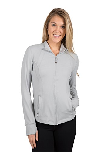 90 Degree By Reflex Womens Full Zip Jacket - Silver Lilly -...