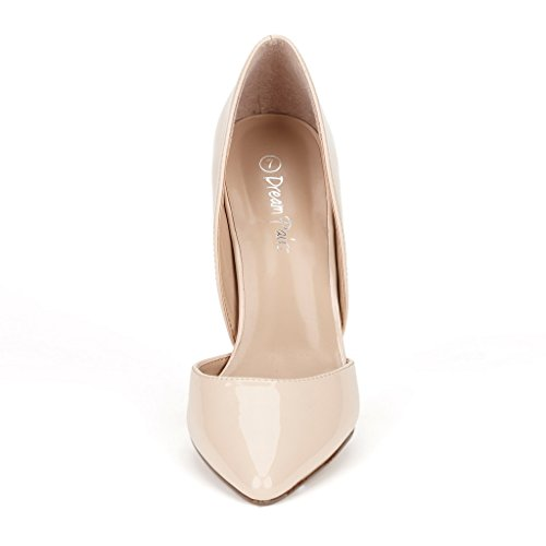 DREAM PAIRS Womens OPPOINTED Dress Pump Stiletto Heel Shoes Oppointed-nude Pat 0hWlK