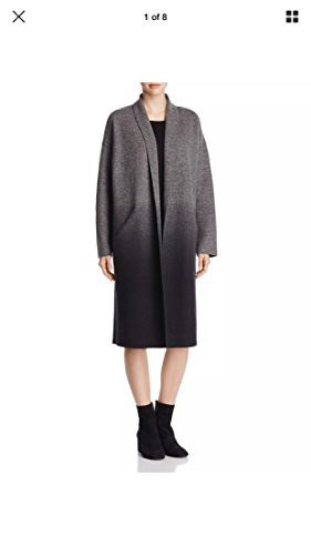 Eileen Fisher Long Wool Cocoon Coat, Grey, One Size - Eileen Fisher Long Wool Jacket