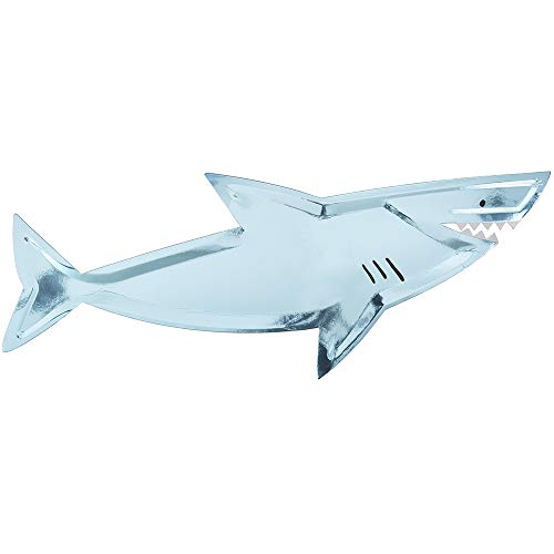 Meri Meri, Under The Sea Disposable Shark Platters, Birthday Party Supplies - Pack of 4