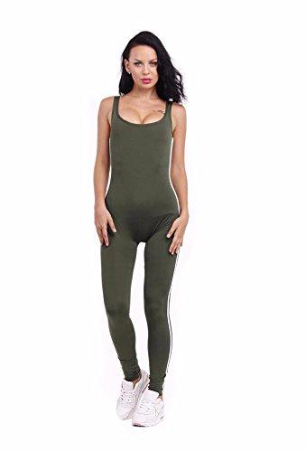 noche vendaje pantalones La HDYS siameses de mujer color puro 1 falda de 6013greenG1 FvqX1qd