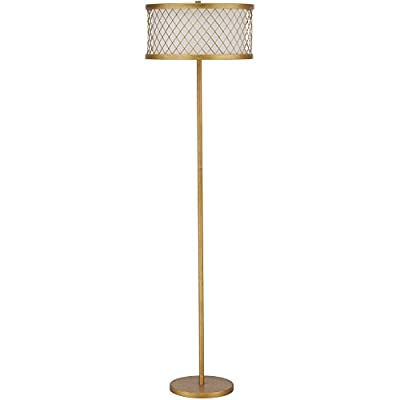 Safavieh Lighting Collection Evie Antique Gold 58.25-inch Floor Lamp